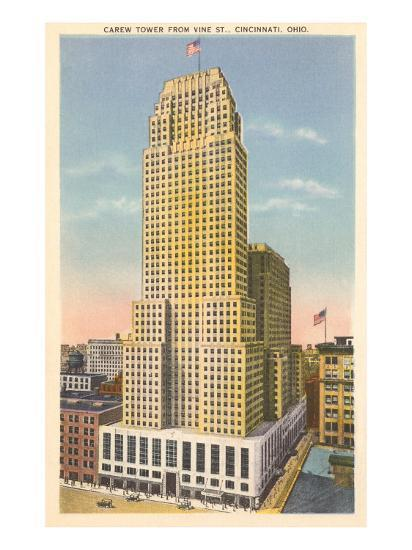 A postcard showing Carew Tower in the early 1930s